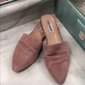 Steve Madden faux suede mules - size 7